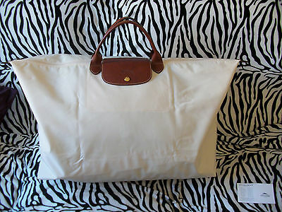Sac Weekend Shopping Blanc Casse Marque Longchamp Xl Collection