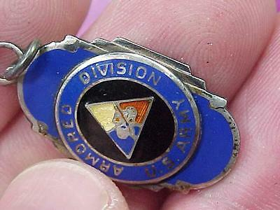 WWII Military U.S. Army Armored Division Charm  (16j1)