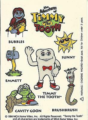TIMMY THE TOOTH Promotional Stickers (1994 - Mint Condition!)