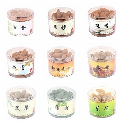 40pc New Home Backflow Incense Natural Smoke Tower Hollow Cones Bullet Hot Sales