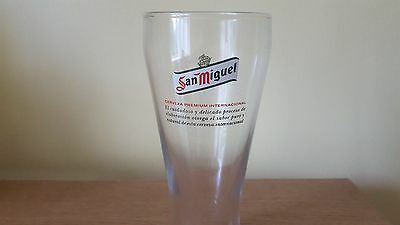 san miguel pint glass new