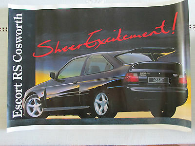 Ford Escort Rs Cosworth Poster Brochure