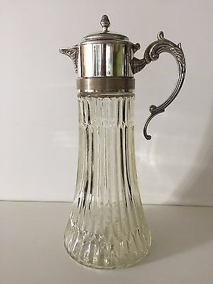 "Vintage Italy Silverplate Wine Ice Tea, Pitcher Decanter, 14"" Tall x 6"" Diameter"