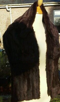 chestnut mink vintage stole by Wm Galt & Sons Glasgow