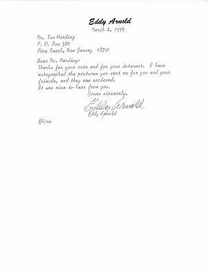 Eddy Arnold  signed autographed note