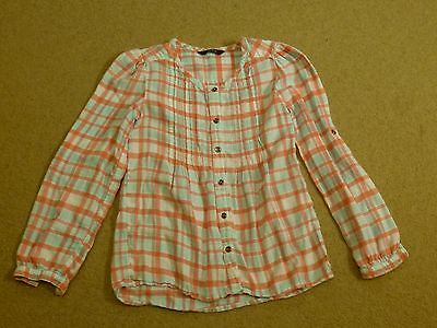 Girls Check Shirt Blouse Top Size 8-9 Years