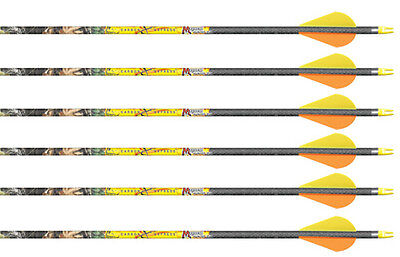 "Carbon Express Mayhem Hunter 350 Arrows Obsession Fletched w/ 2"" Blazers 6 Pk"