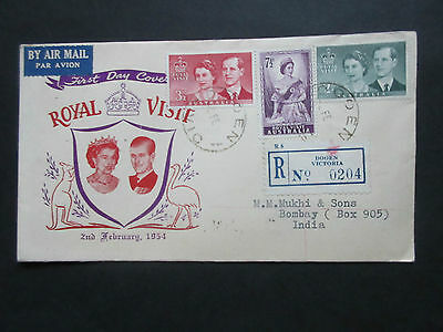 Australia 1954 Royal Visit Set First Day Cover.