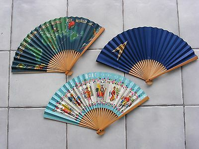 Three Boac Paper Fans At A Great Price