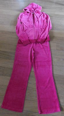 Girls Pink Jogging Suit Size 10
