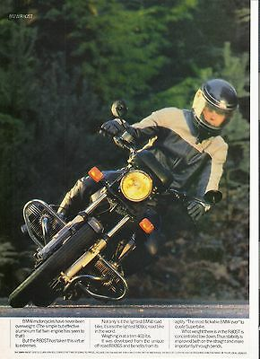 BMW R80ST classic period motorcycle advert 1984