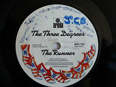 "THE THREE DEGREES - The Runner 1979 7"" Vinyl Single"