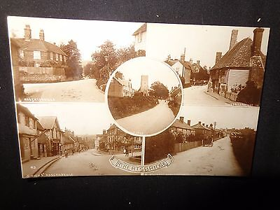 Robertsbridge C1910 Early sepia real photo RP MULTIVIEW  Sussex Postcard