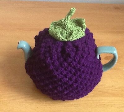 Hand Knitted Blackberry Tea Cosy