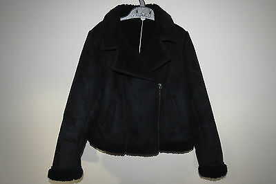 Black girls cosy jacket Age 9-10 Height 135-140 cm