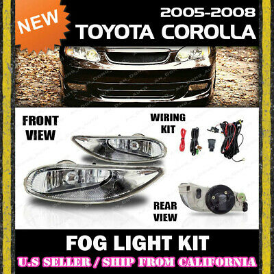 [complete] FOG LIGHT KIT for Toyota 05 06 07 08 Corolla SWITCH WIRING