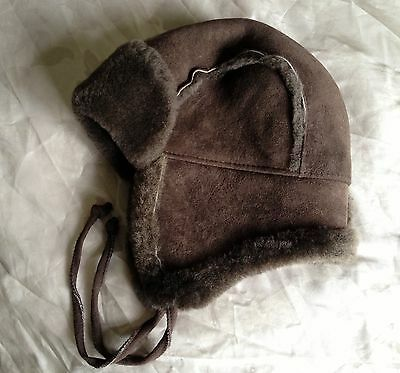 Baababy Kids Real sheepskin hat Chocolate Brown 52cm Age 3-4