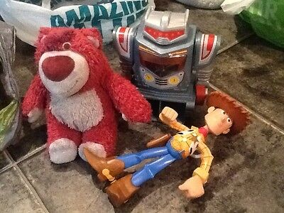 toy story characters - LOTSO, Woody and Sparks.