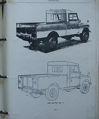 LAND ROVER  Ministry of Defence Handbook Issued April 1961 covering all Marks.