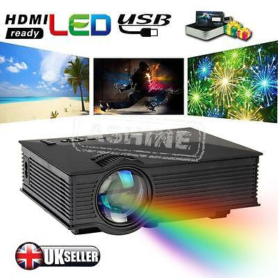 Full HD 1080P LED Mini Home Theater Projector With Airplay WiFi HDMI VGA USB SD