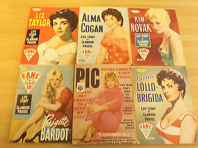 "6 x 1960""s Fan Magazines inc Liz Taylor"