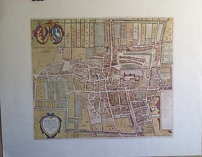 """Print City Map Of """"Hagae Comitis 1618"""" , The Hague, The Netherlands"""