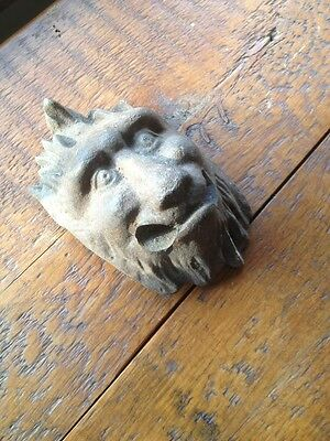 Antique Architectural Salvage Cast Iron Griffin Or Lion- Heavy