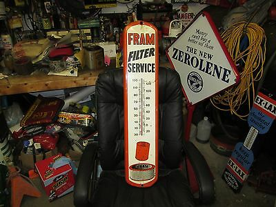 Original Early Fram Oil Filter Service Thermometer.