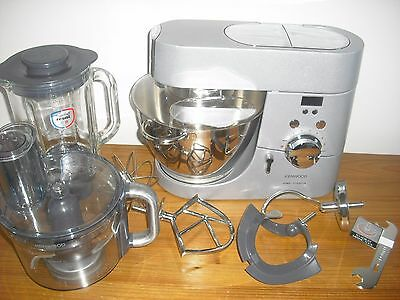 Kenwood Chef Titanium 4.6L Stand Mixer with timer KMC030 silver