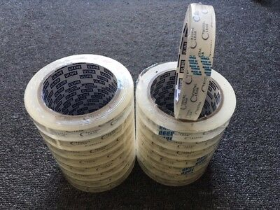 """LOT (16-Rolls) PREMIUM 2.2-mil 3/4"""" X 2592"""" (72-YDS) Crystal Clear Tape 3""""-Core"""