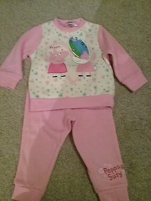 Peppa pig tracksuit 12 months