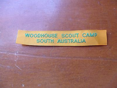 Woodhouse Scout Camp South Australia  Scout Strip Cloth Badge
