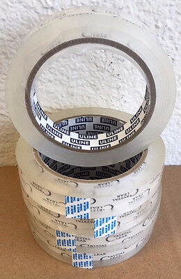 """LOT (5-Rolls) PREMIUM 2.2-mil 3/4"""" X 2592"""" (72-YDS) Crystal Clear Tape 3""""-Core"""