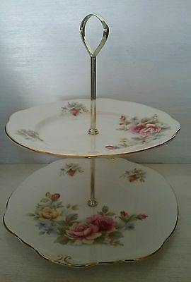 Lovely Vintage Duchess Bone China 2 Tier Cake Stand Pat No Duc10