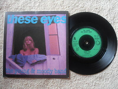 """THE YOUNG AND MOODY BAND THESE EYES BRONZE RECORDS UK 7"""" VINYL SINGLE in P/S"""