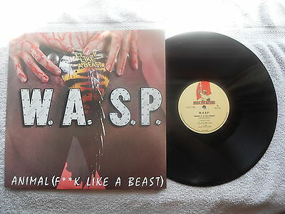 """WASP ANIMAL F_ _ K LIKE A BEAST MUSIC FOR NATIONS 12"""" VINYL SINGLE in P/SLEEVE"""