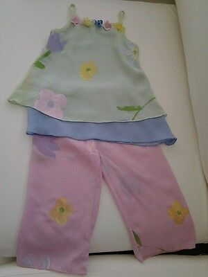 Girls Floral Top And Trouser Set  Age 3 Years
