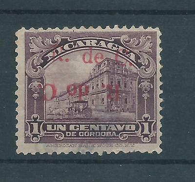 Nicaragua, 1922, Scott RA11 WITH RED DOUBLE OVERPRINT, ONE INVERTED, TRIAL, MNG