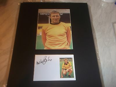 Mike Bailey  Wolves  Signed &  Mounted Picture 14X11 Plus Free Postage