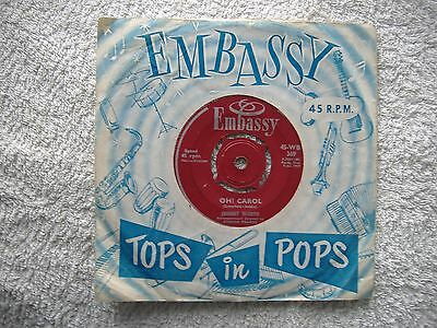 Embassy Label - Johnny Worth - Oh Carol / What Do You Want 1959