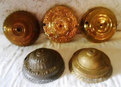 GOOD LOT Brass Hanging Oil Lamps Ceiling Canopy Caps, Parts