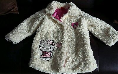 Beautiful Hello Kitty soft cream faux fur girls coat age 2-3 years