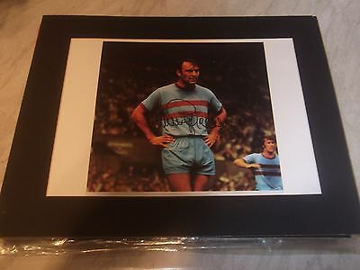 Jimmy Greaves  West Ham Signed & Mounted Picture 14X11 Plus Free Postage