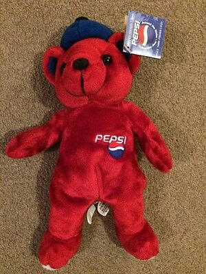 Limited Edition Pepsi Jetsetter Beanie Bear - New with Tags