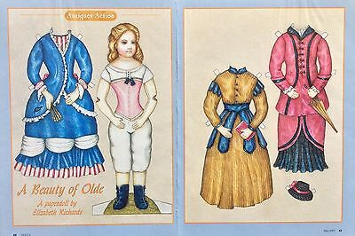 A Beauty of Old Paper Doll by Elizabeth Richards, Uncut 2003 Mag. PD