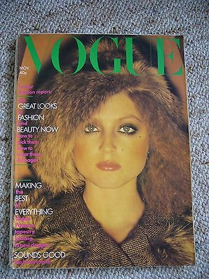 Vintage VOGUE Magazine 1974 November, with cover photo by David Bailey