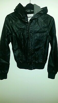 Girls New Look faux leather jacket 12-13 year old
