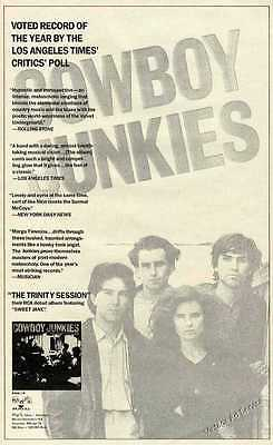 1989 Cowboy Junkies Photo Canadian Alternative Country Music Promo Ad