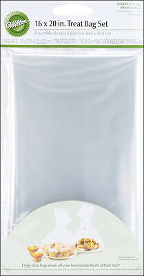 """Treat Bags 10""""X16"""" 4/Pkg-Clear, Set Of 6"""