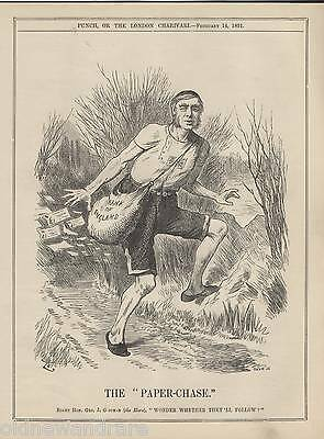 Genuine 1891 Print Cross Country Running Hare Hounds Athletics Olympics Race 1